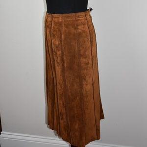 100% Valerie Stevens Leather Skirt - Sz 14